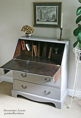 Pretty Vintage Bureau Writing Desk Painted in Farrow & Ball