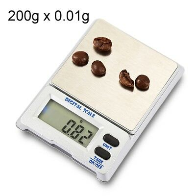 200g x 0.01g High Accuracy Digital Electronic Jewelry Scale Balance with LCD