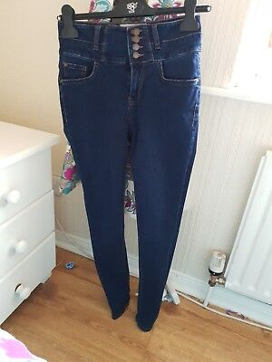 """New look high waisted jeans size 10 leg 30"""" worn once Yazmin skinny"""