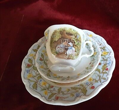 "Brambly Hedge Royal Doulton, ""The Engagement"" , 3-teilig, I. Wahl"
