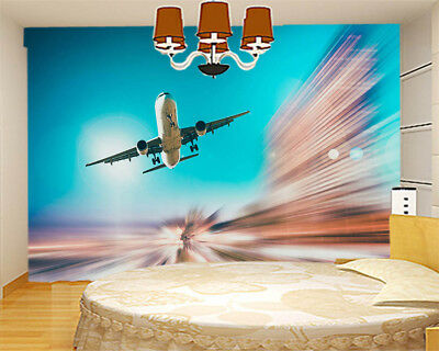 Fly Into Blue Sky 3D Full Wall Mural Photo Wallpaper Printing Home Kids Decor