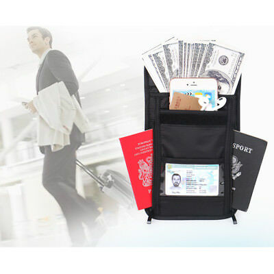 RFID Blocking Wallet Passport Neck Pouch Card Ticket Money Secret Holder Bag