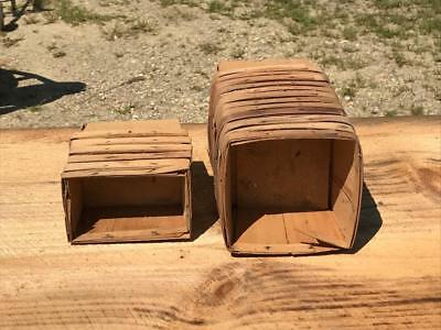 18 Antique Vintage Rustic Farm Wood Wooden Berry Boxes Baskets Pint & Quart