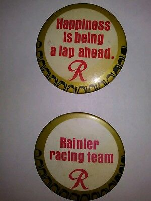 Vintage Hydroplane, Rainer Beer, 70's Seattle Buttons