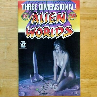 THREE DIMENSIONAL ALIEN WORLDS #1 - WITH 3-D GLASSES Pacific Comic 1984
