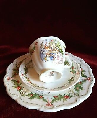"Brambly Hedge Royal Doulton, 3-teiliges Gedeck ""Merry Midwinter"", 1. Wahl ! TOP"