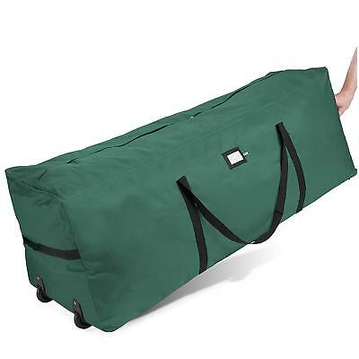 Zober Tree Bag - With Wheels Fits 7 Ft Tree 17 x 16 x 48 in. Green