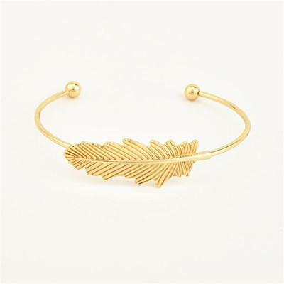 2018 New Fashion Leaf Open Bracelet Three-piece Suit Alloy Bangle Jewelry Y