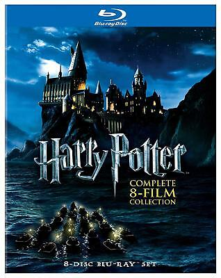 Harry Potter Blu Ray 8 Film Collection Complete Series