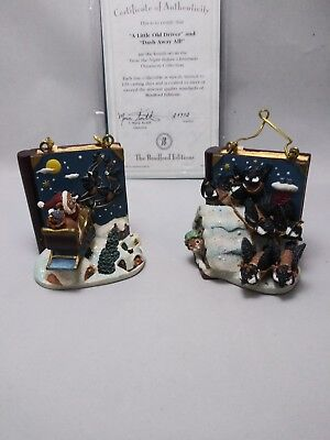 The Brandford Editions 1996 Set Of 2 Twas The Night Before Christmas Ornament...