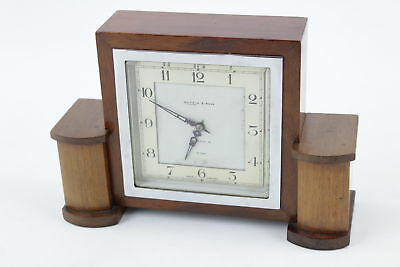 Vintage MAPPIN & WEBB 8 Day Hand-Wind Mantel Clock WORKING