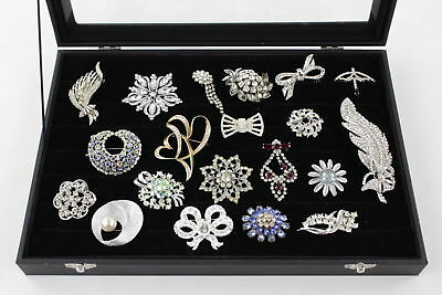 20 VINTAGE Rhinestone & Crystal STATEMENT BROOCHES Art Deco Style