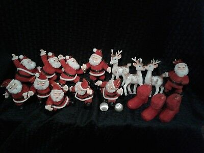 Vintage Christmas Santa Claus Doll Figure Ornaments Lot Of 18