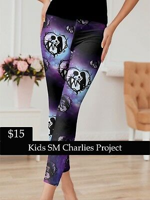 Brand New w/ Tags Kids SM Jack and Sally Leggings Charlies Project Fits: 2T-5T