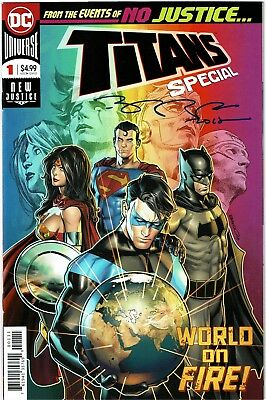Titans Special #1 - 1st Print - Signed by Brent Peeples - NM
