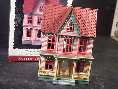 Hallmark Ornament 1996 Nostalgic Houses VICTORIAN PAINTED LADY New Old Stock