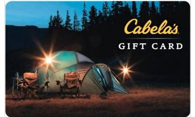 $500 Cabela's Physical Gift Card (5x $100) - FREE 1st Class Mail Delivery