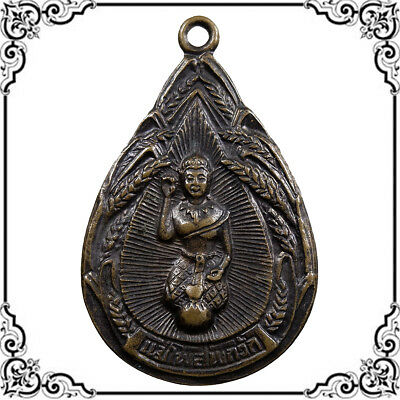Genuine Goddess Nangkwak Thai Amulet Pendant Good Trade Talisman Wealth Rich FS