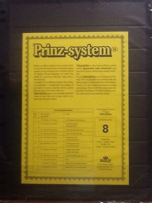 Prinz System Single Sided Pack of 10 X 8s New in Pack