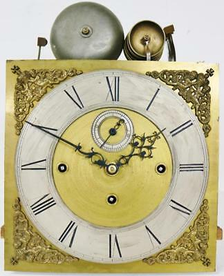 "Antique English 8Day 11"" Dial Musical 8 Bell Grandfather Longcase Clock Movement"