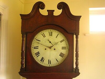 Antique 8 Day Painted Dial Grandfather Clock.Thomas Noon-Burton. Recent Overhaul