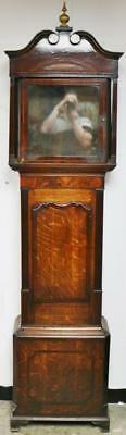 Antique English Mahogany & Oak 8 Day Longcase Grandfather Clock Case Only