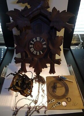 Vintage German Made Forest Cuckoo Clock in Parts