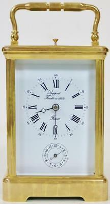 Rare Rapport L'Epee 8 Day Brass Gong Striking Repeater Carriage Clock With Alarm