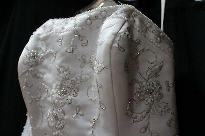 DAVINCI Wedding gown dress size 8 Embroidered Tulle & Organza overlay and Train