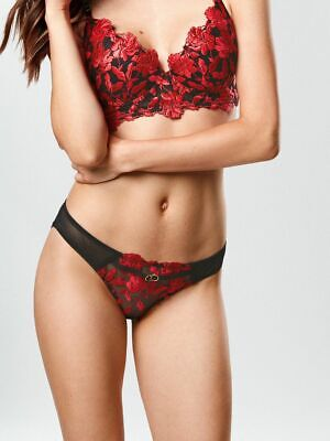 Ann Summers Womens Cecile Brazilian Floral Mesh Panties Sexy Lingerie Underwear