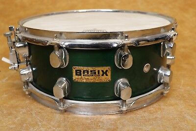 Basix 5.5x14 Snare Drum Transparent Forest Green