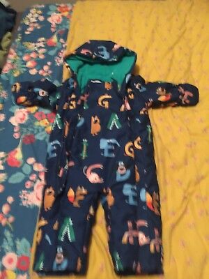 M&S Snowsuit Winter Suit 12-18 Months Padded With Hood