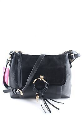 "SEE BY CHLOé Sac à main ""Joan Shoulder Bag Suede Black"" noir Dames cuir 222dbf83398"