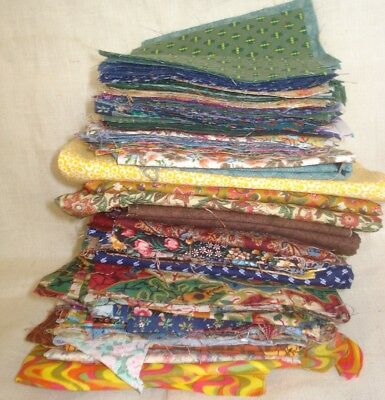 """BIG LOT Sewing Quilting Fabric  162 6"""" Squares, Scraps and Remnants"""