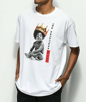 Notorious BIG Biggie B.I.G. Baby White T-Shirt Tee Crown NWT 100% Authentic