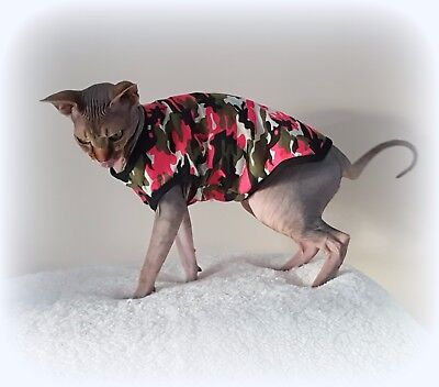 2 sizes CAMOUFLAGE Summer vest, Sphynx cat clothing, Sphynx clothes