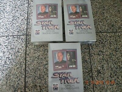 (3)  Sealed Boxes 1991 Star Trek Cards--25th Anniversary