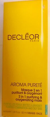 NEW & BOXED DECLEOR AROMA PURETE 2in1 PURIFYING & OXYGENATING MASK 50ml