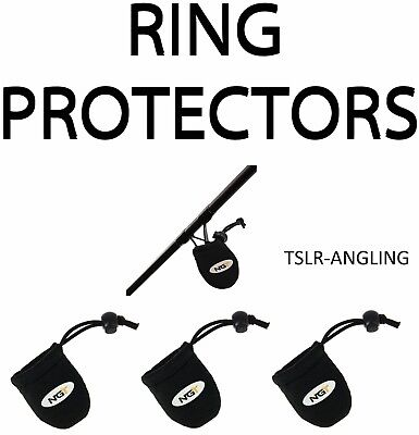 NGT New Carp Fishing Rod Ring Neoprene Protectors Set of 3 Coarse Fishing Tackle