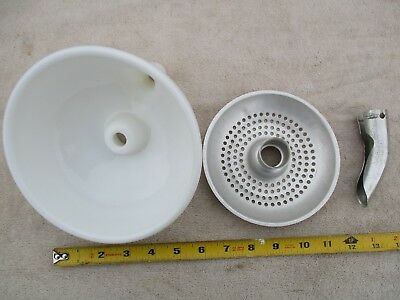 Vintage Hamilton Beach Juicer Bowl, Strainer, & Spout For Stand Mixers. Nice.