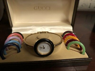 c992b57ec3b VINTAGE GUCCI LADIES Bangle Watch with Bezels And Box -  305.00 ...