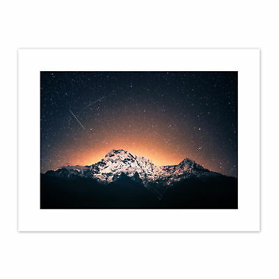 Marttinen Ghandruk Nepal Mountain Shooting Stars Canvas Wall Art Print