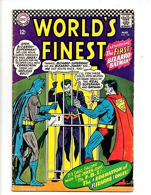 Worlds  Finest  1966 Vg+  No.156  Dc Comics