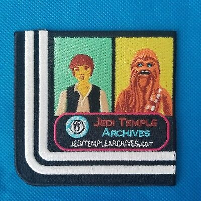 (3) STAR WARS CELEBRATION 2017 COLLECTING PATCHES - Han Chewbacca Jedi Temple