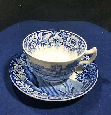 """Vintage Enoch Woods Castles """"English Scenery""""Woods&Sons England Cup and Saucers"""