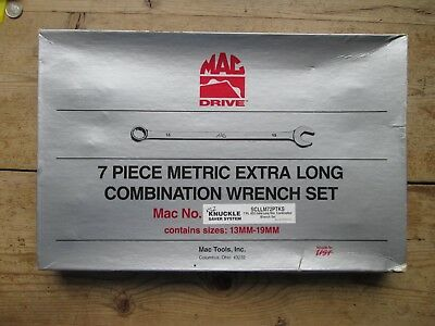 Mac Tools - Mac Drive 7 Piece Metric Extra Long Combination Wrench Set
