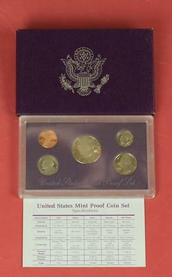 1989 United States Proof Set 5 U.S. Mint Coins Slabbed w/Original Box/Specs/COA