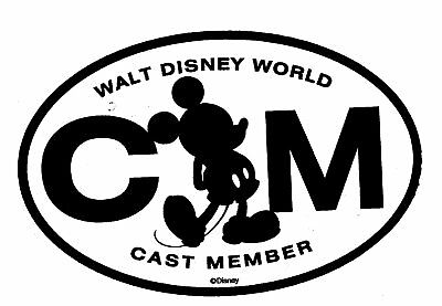 "Cast Member Car Magnet Disney Exclusives NEW IN SEALED PACKAGE 4""x 6"""