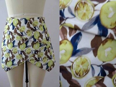 Citrus Fruity Print Scuba Fabric Skorts Shorts 10  Buy 3+ items for FREE Postage