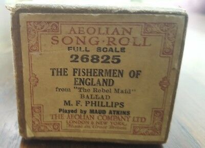 Aeolian Song Roll Full Scale 26825 The Fishertmen Of England From The Reble Maid
